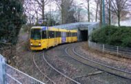 Essen in Germany with excellent Tram-Tunnel entrance