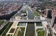 The river in Madrid gets an artificial beach