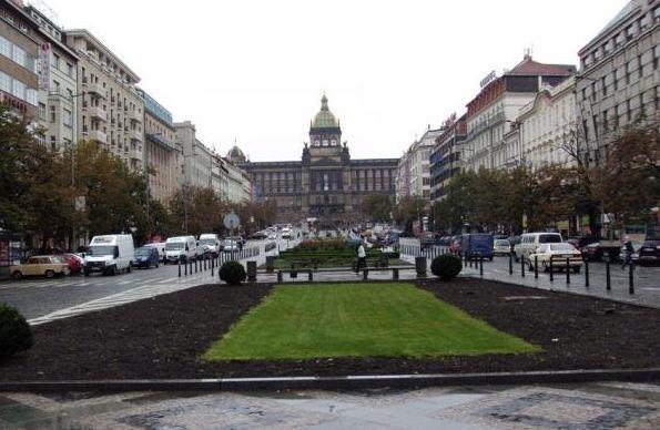 La-plaza-de-Wenceslao-Praga