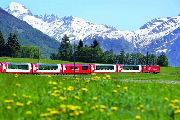 Take The Glacier Express Train Through the Swiss Alps