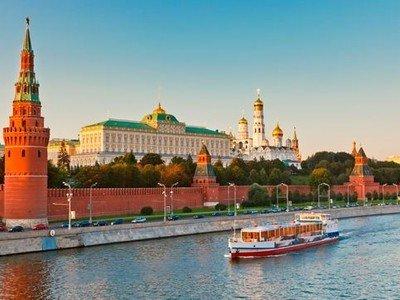 Spectacular scenery Volga River in Russia