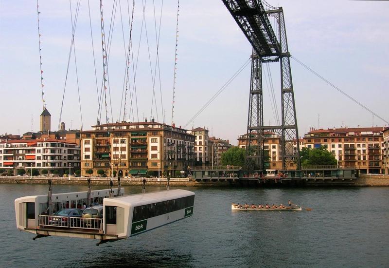 Amazing Bridge in Spain, Vizcaya Bridge