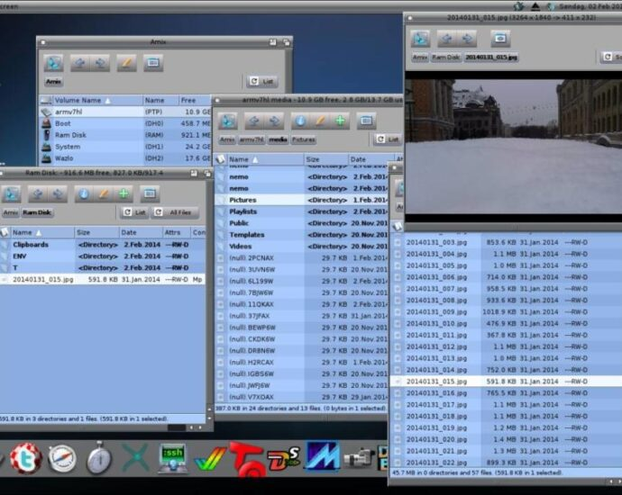 Jolla, MorphOS, Desktop