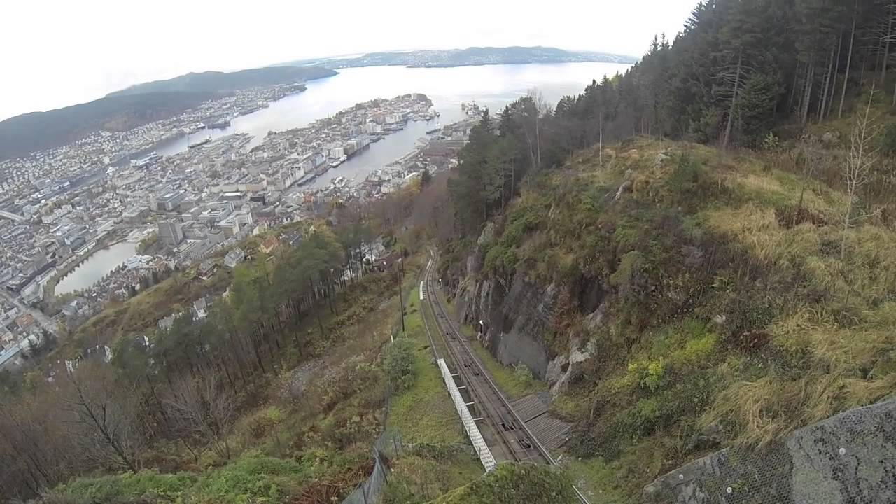 Exclusive video of Bergen funicular ride