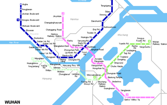 Line 1 Dijiao – Hankou North opened in Wuhan, China