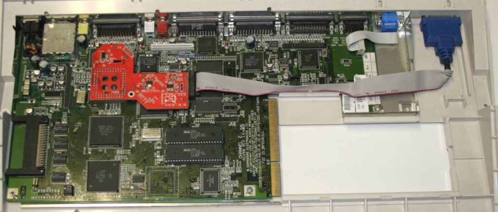 Indivision AGA mk2 inside an Amiga 1200