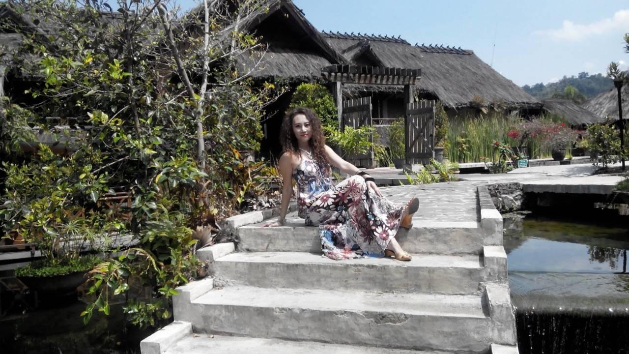 Visit Kampung Sumber Alam near Bandung Indonesia