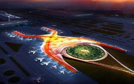The new airport project in the city of Mexico