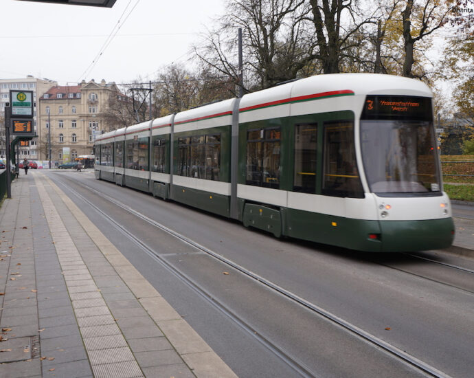 Augsburg Longest Tram Seen By Distrita