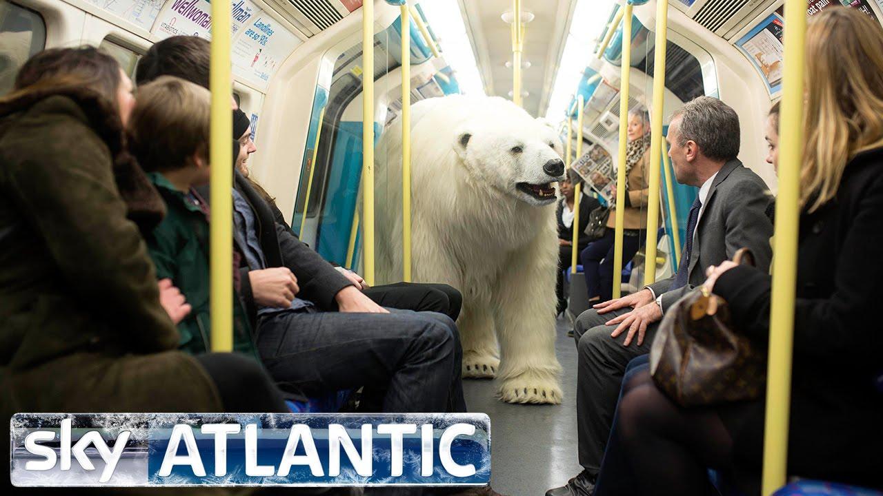 Huge 'polar bear' walks on the streets of London makes people Talk