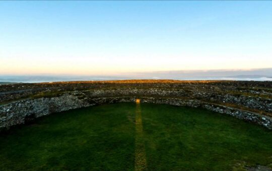 Grianan of Aileach, restored stone fortress in Ireland