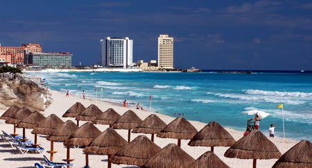 Cancun on the Mexican Caribbean