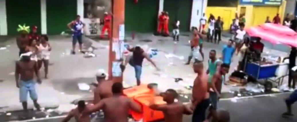 Street Fighting in Rio, Brazil