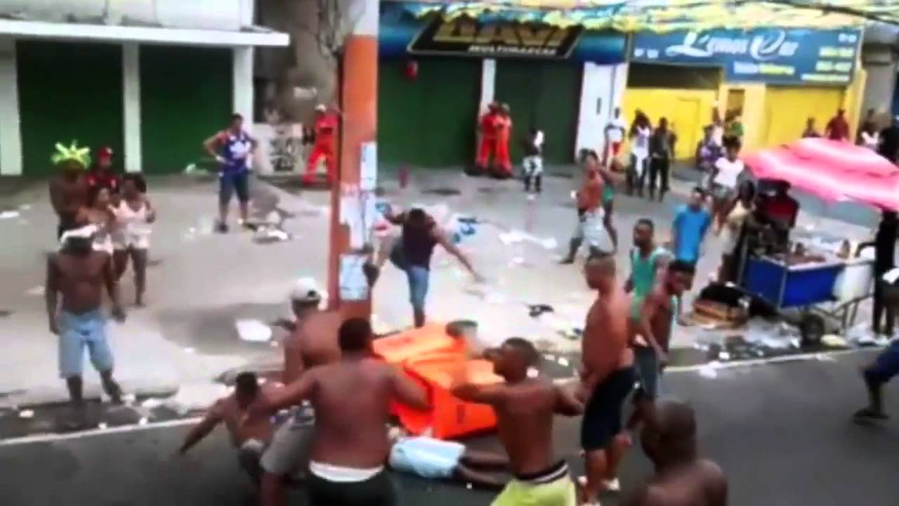 Street Fighting in Rio, Brazil