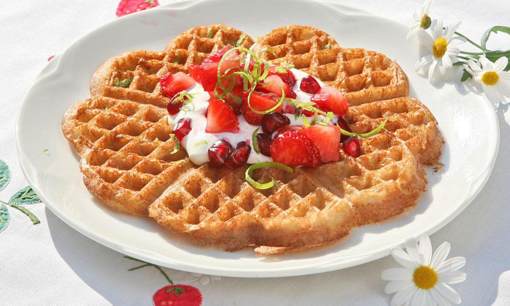 Norwegian Waffles at the official Waffel day in Europe - Distrita