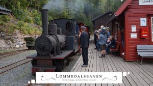 Lommedalsbanen Choo Choo Train with Steam