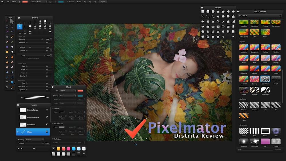 Pixelmator in Fullscreen Mode