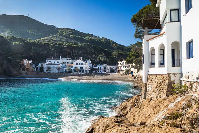 Catalonia in Spain, Sa Tuna Beach in the village of Begur Costa Brava