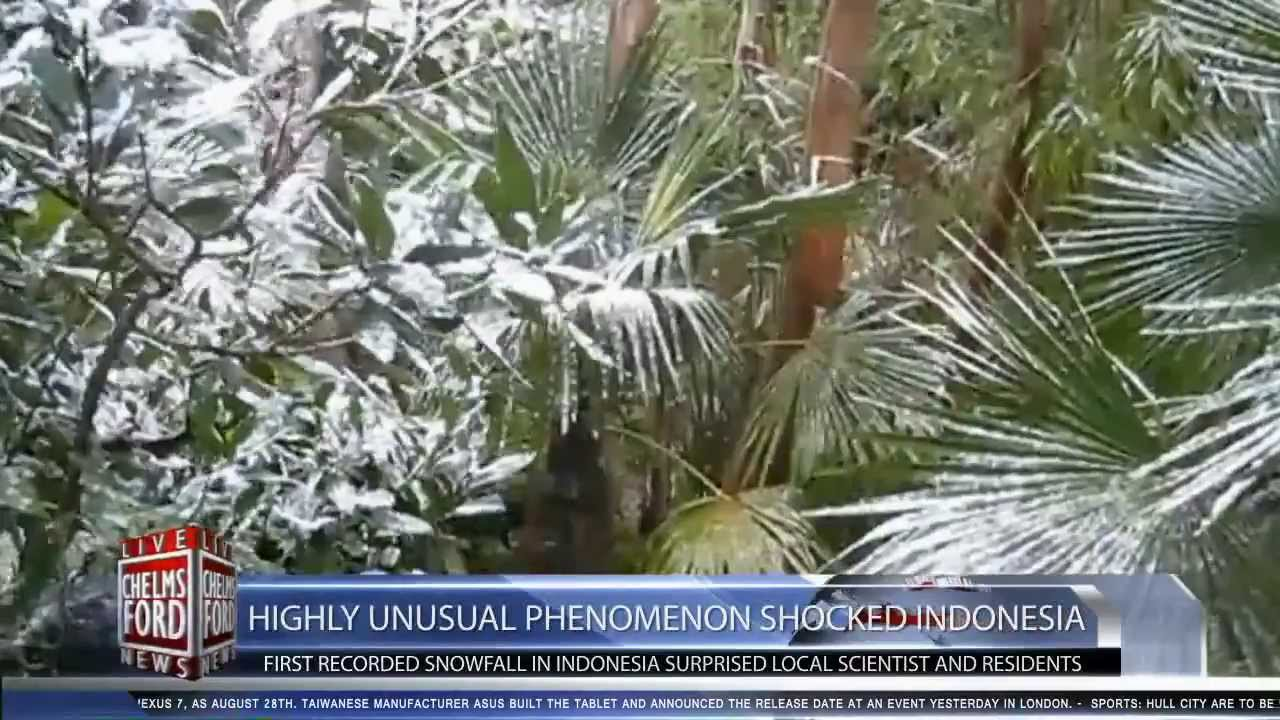 First Recorded Snowfall in Indonesia