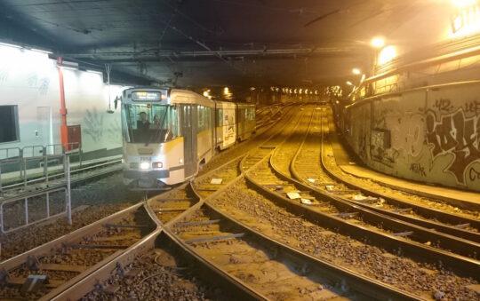 Lemonnier Tram station in Brussels