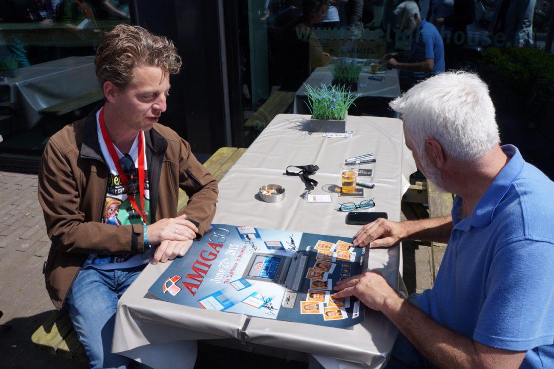 RJ Mical signing at Amiga 30th