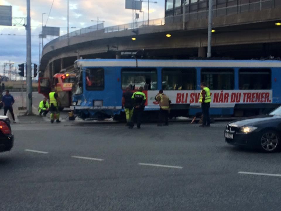 Tram derailment in Oslo yesterday