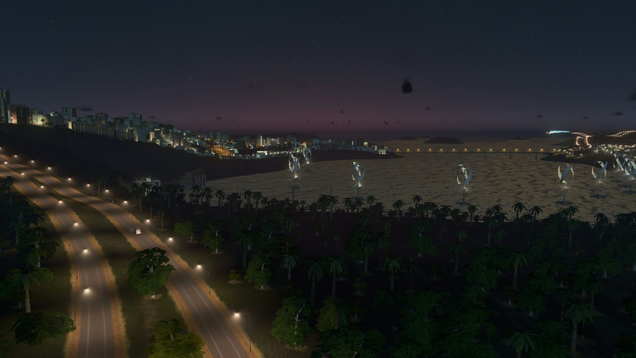 Night is beauty in this game