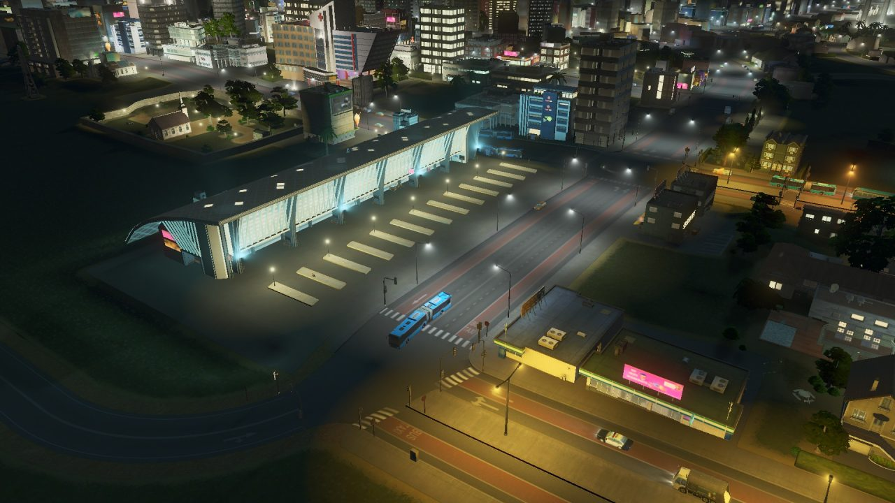 Cities Skylines during the Night 3
