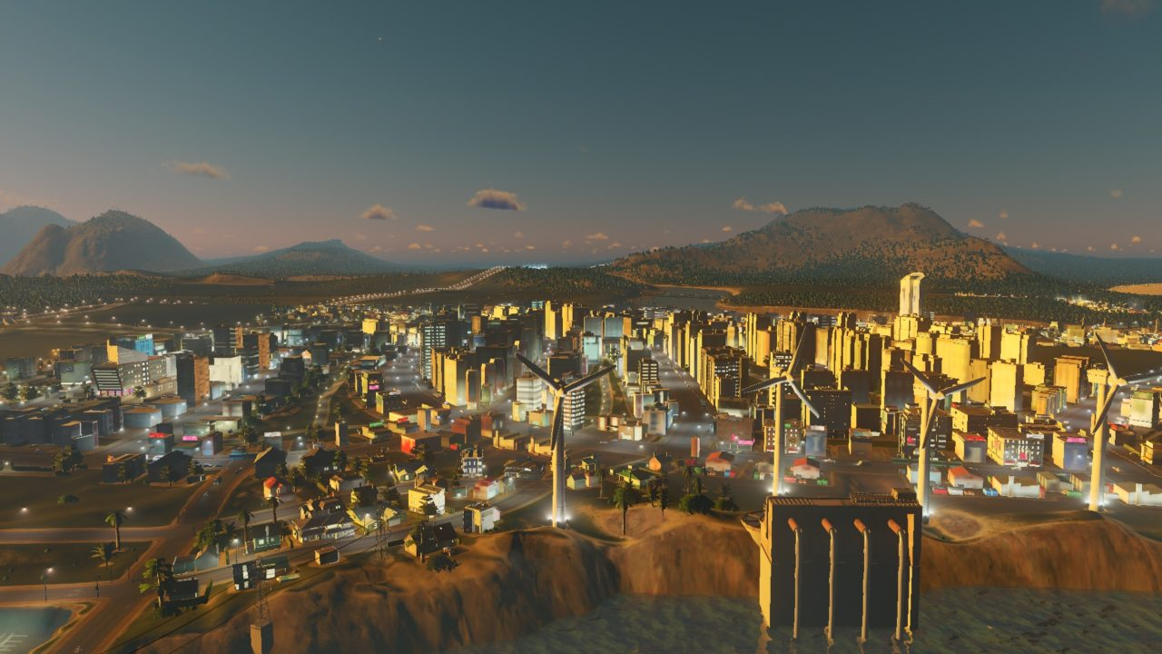 Cities Skylines during the Night 1