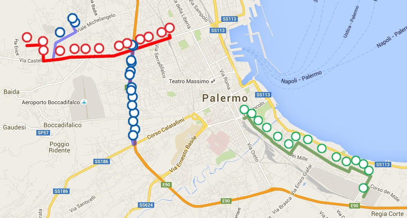 Palermo Tram Map