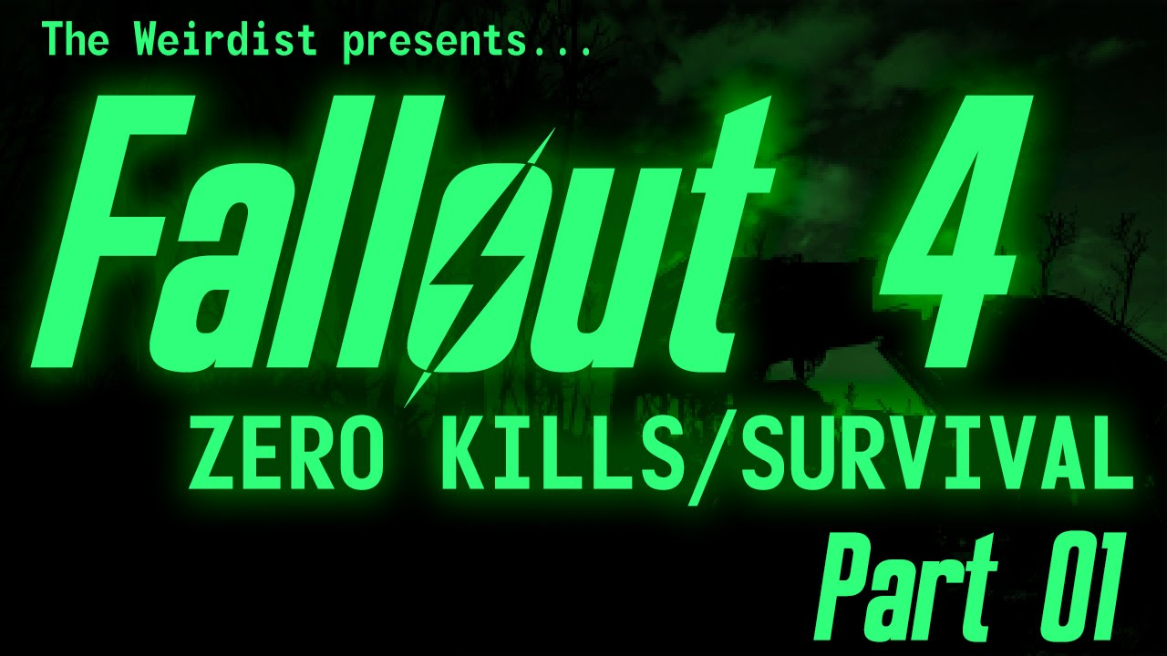The Weirdist completed Fallout 4 without Killing