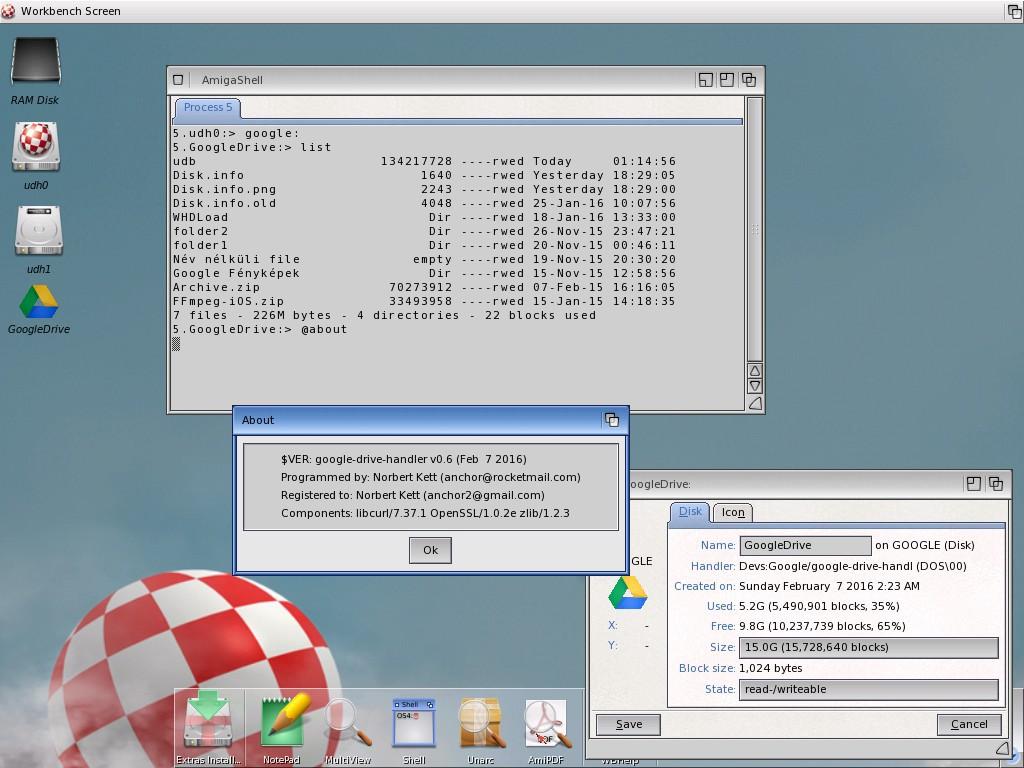Google Drive Handler on AmigaOS 4.x