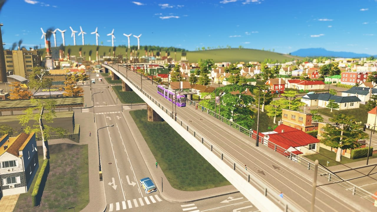 Cities Skylines Tram City