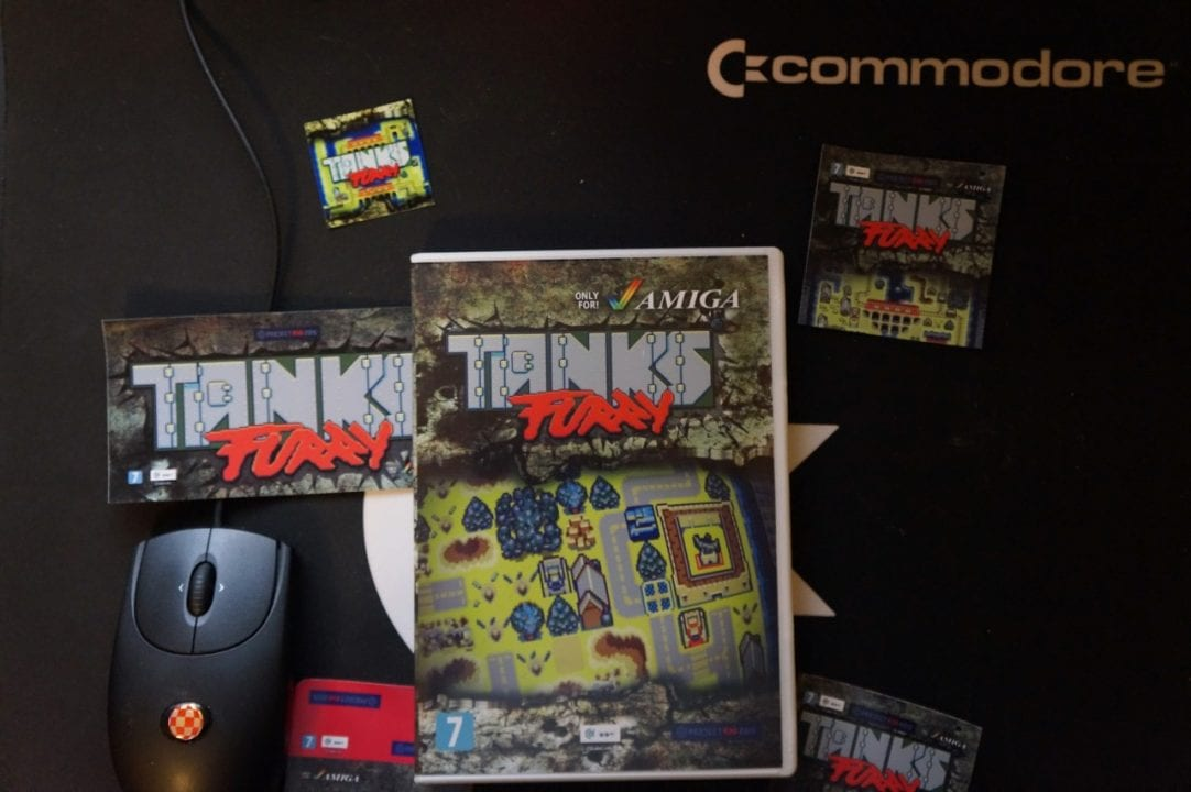 Tanks Furry came in a DVD box with many stickers!