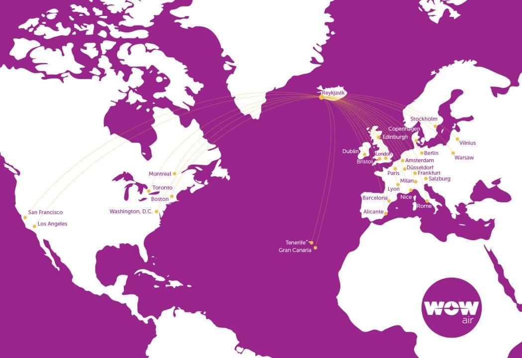 WOW Air map