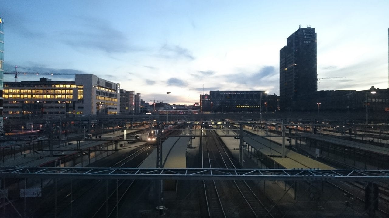 Longest day of the Year 2016 - Taken from the bridge that goes over Oslo Central Station