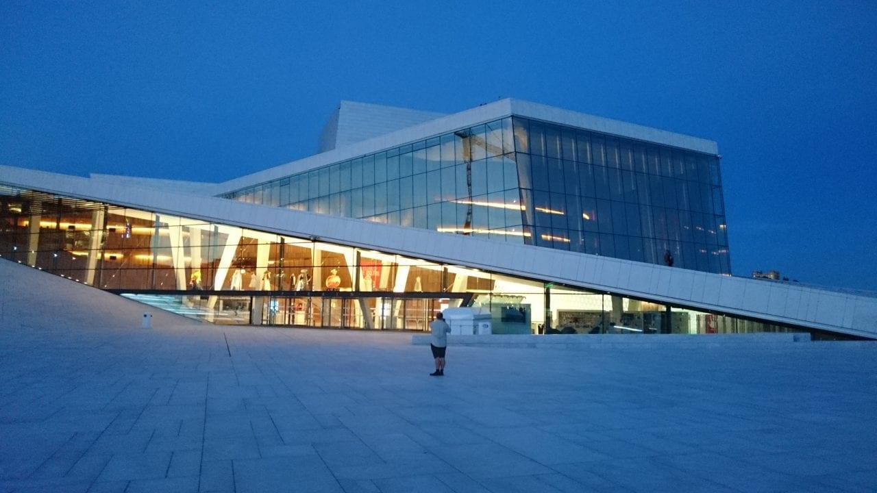 Oslo Opera Building lightening a bit up