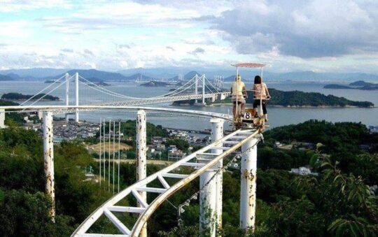 Most Bizarre Roller Coaster bike ride Ever!