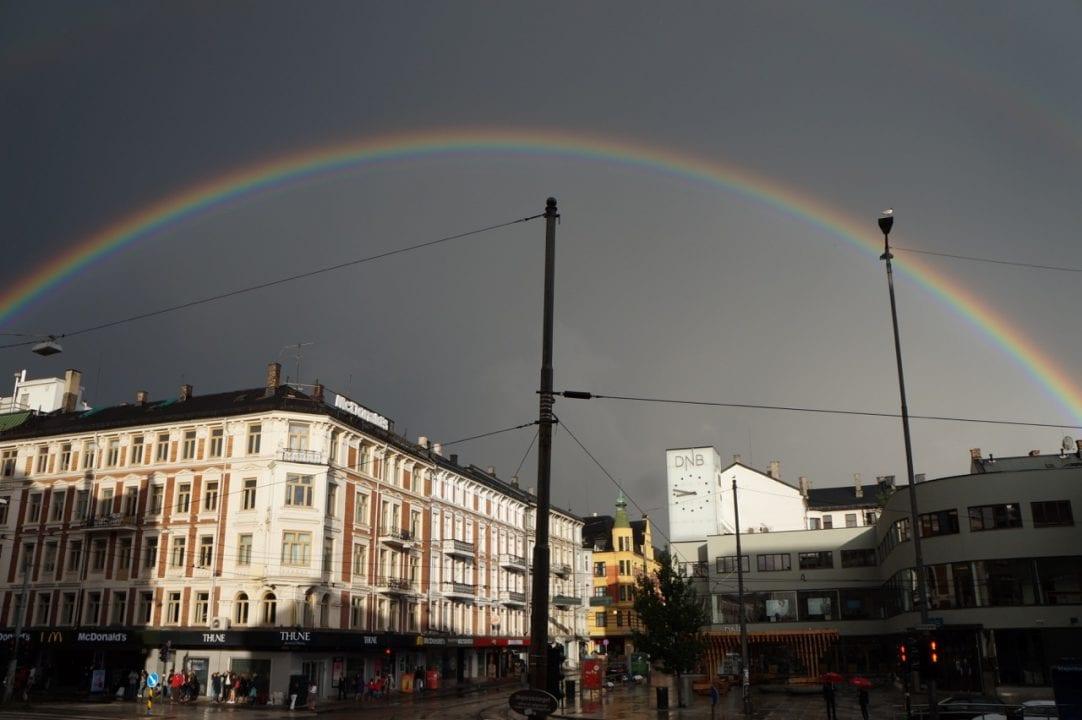 Double Rainbow Very Clear Rainbow Majorstuen Supoerlong Rainbow