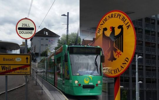 Unique Basel Switzerland-Germany Light Rail Tram border Experience