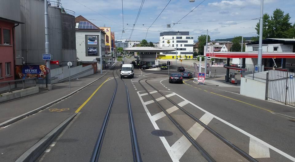 Jan Flønes, Switzerland-Germany Light Rail Tram border Experience
