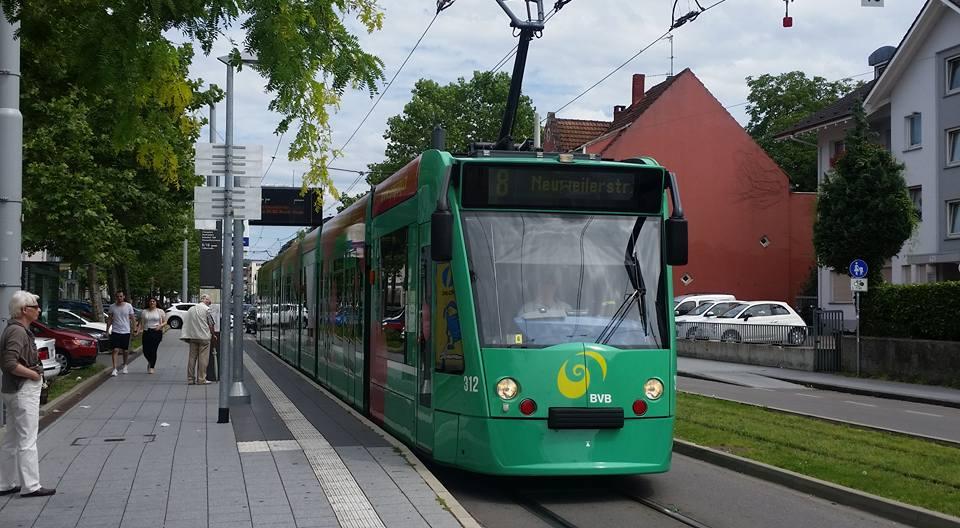 Basel Tram line 8, Switzerland-Germany Light Rail Tram border Experience