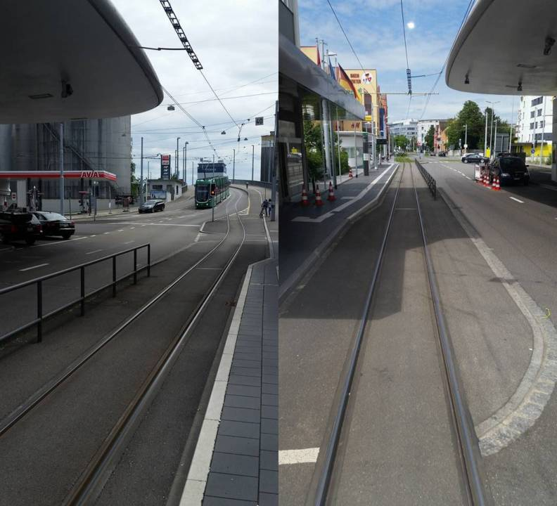 Switzerland-Germany Light Rail Tram border Experience