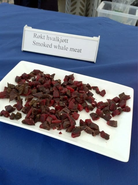 "Smoked whale meat was only of the delicious specialities at ""Matstreif"""