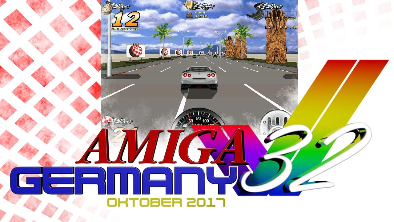 Amiga Racer supporting Amiga 32