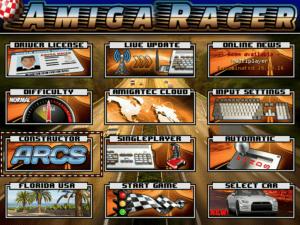 Amiga Racer Menu