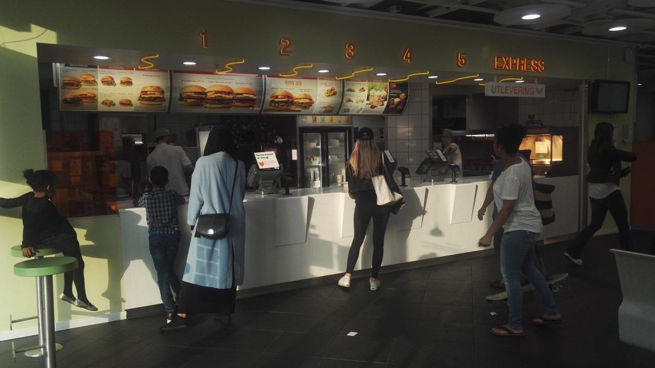 Vegetarian fast food at Max