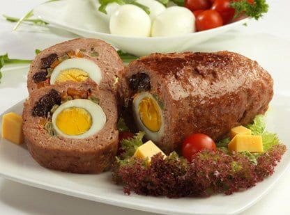 meatloaf, meatroll, meat loaf, meat roll