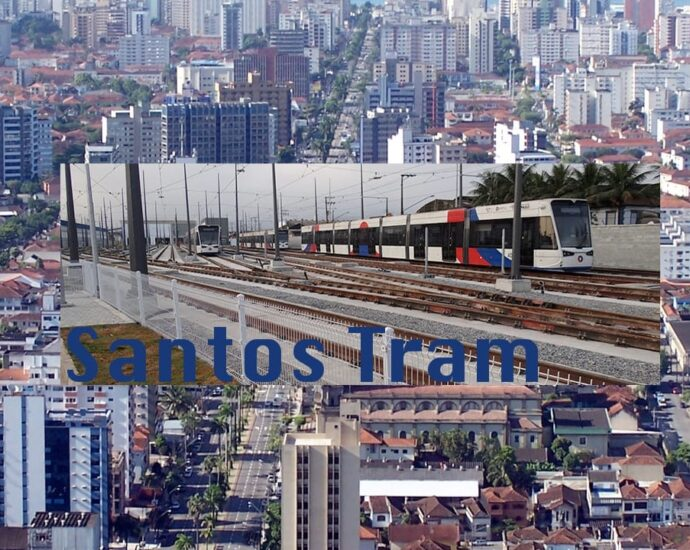 Santos in Brazil got it's Light Rail