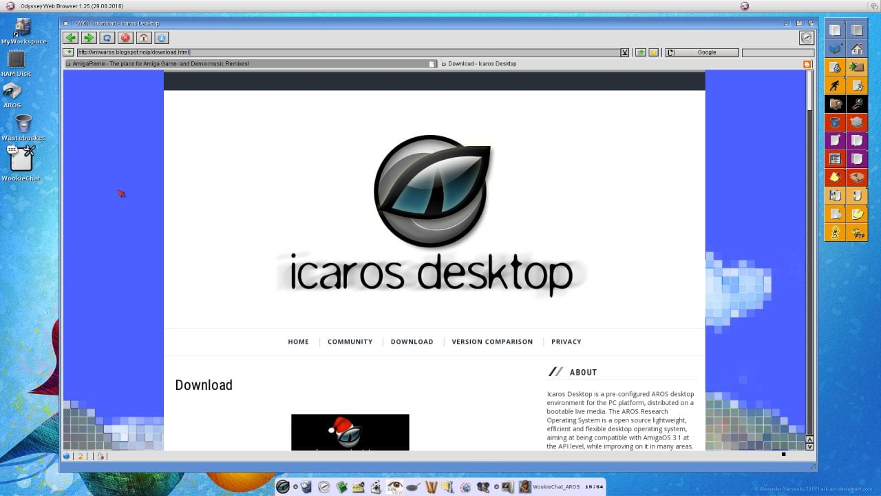 AROS - Icaros Desktop Website